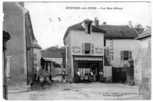 Carrefour de la rue Rémy et de la rue François Villon (début du XXe siècle)