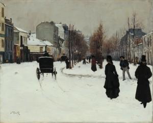 Le Boulevard de Clichy sous la neige1876 - Norbert Goeneutte 1854-1894