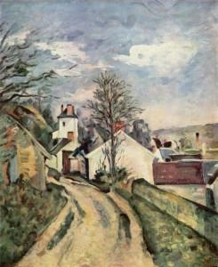 Maison Gachet (tout au fond) par Cézanne